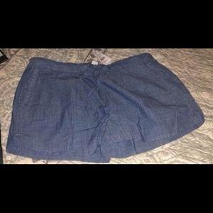 J. Crew drawstring denim shorts